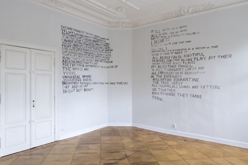 Poem by Karl Holmqvist for Victor Man's show 'Sardines (for Victor)' @ Galerie Neu, Berlin, 2016